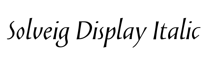 Solveig Display Italic Fonte
