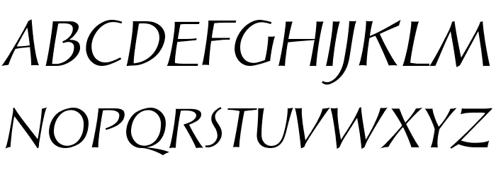 Solveig Display Italic Font UPPERCASE