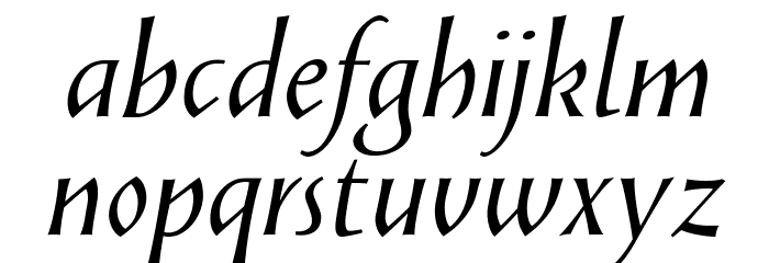 Solveig Display Italic Font LOWERCASE