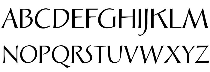 Solveig Display Font UPPERCASE