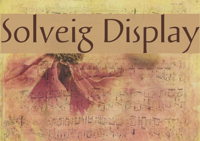 Solveig Display Font examples