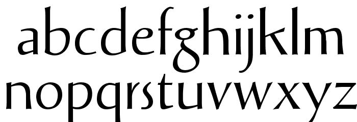 Solveig Display Font LOWERCASE