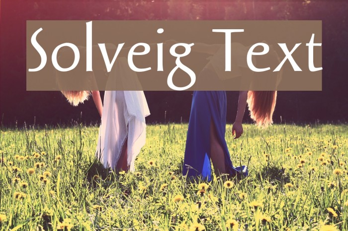 Solveig Text Font examples