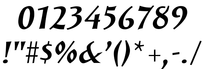 SolveigBold-Italic Fonte OUTROS PERSONAGENS