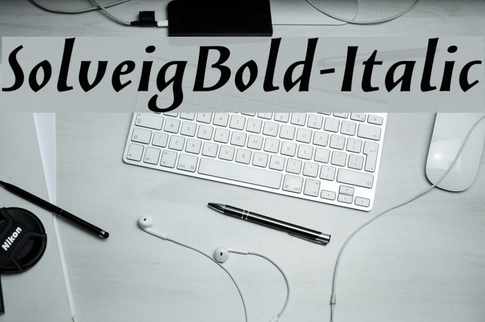 SolveigBold-Italic Fonte examples
