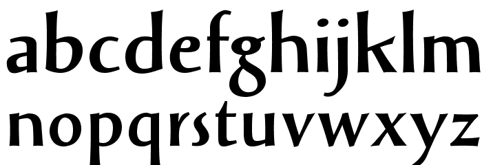 SolveigBold Font LOWERCASE