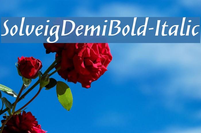 SolveigDemiBold-Italic Fonte examples