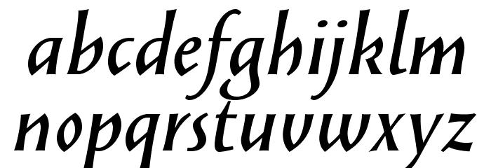 SolveigDemiBold-Italic Fonte MINÚSCULAS