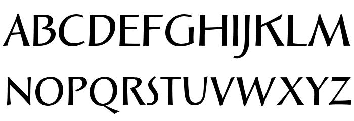 SolveigDemiBold Font UPPERCASE
