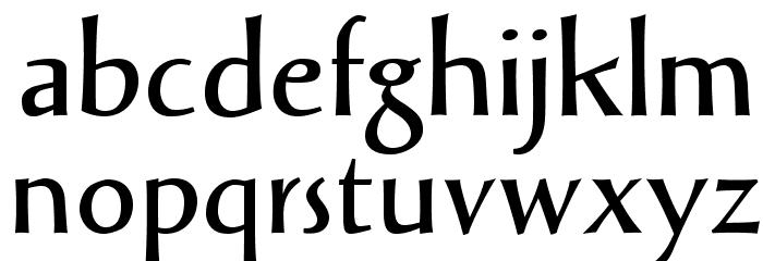 SolveigDemiBold Font LOWERCASE