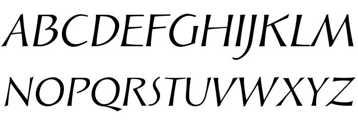 SolveigDisplay-Italic Font UPPERCASE