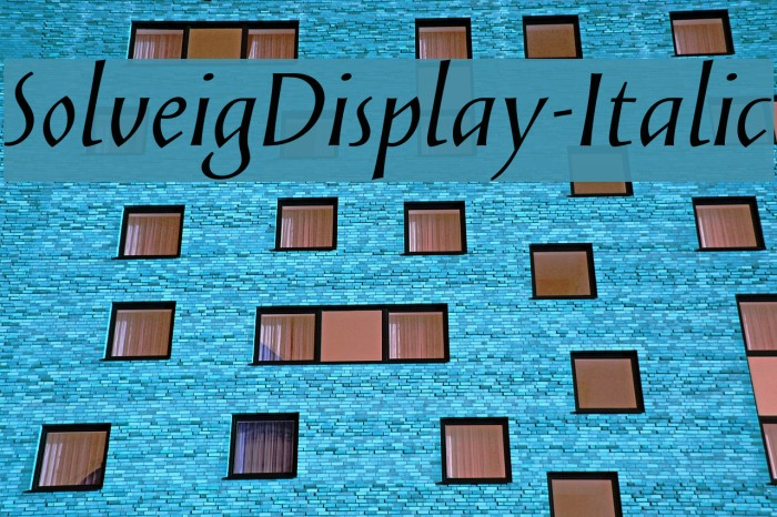 SolveigDisplay-Italic Fonte examples