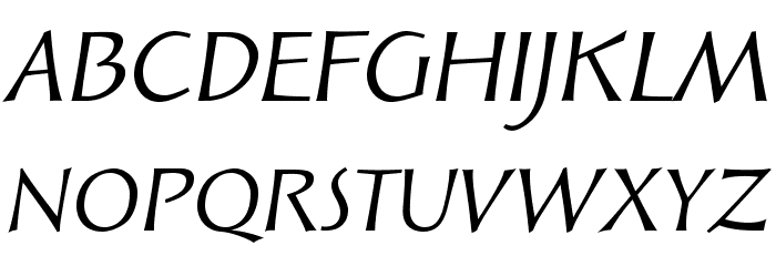 SolveigText-Italic Font UPPERCASE