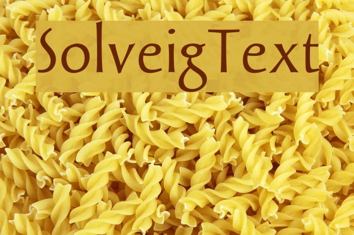 SolveigText Fonte examples