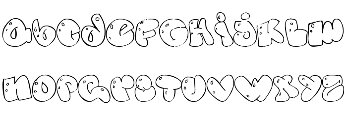 Some Bubbles Font LOWERCASE