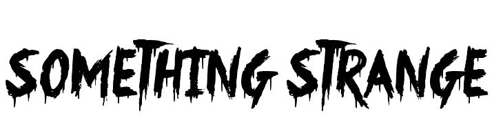 Something Strange  Скачать бесплатные шрифты