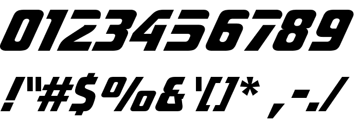 Sonic Extra Bold BT Font OTHER CHARS