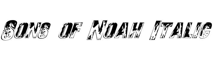 Sons of Noah Italic  Free Fonts Download