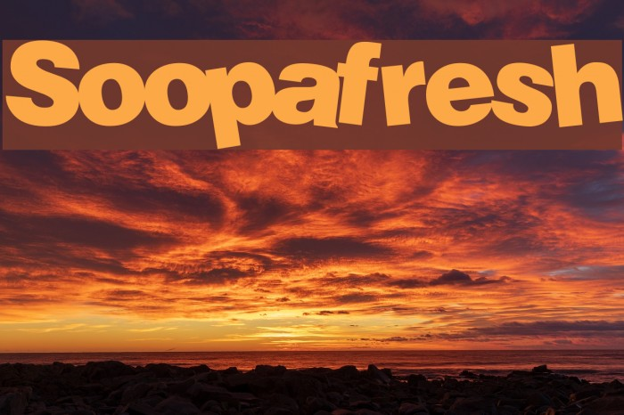 Soopafresh font | urbanfonts. Com.