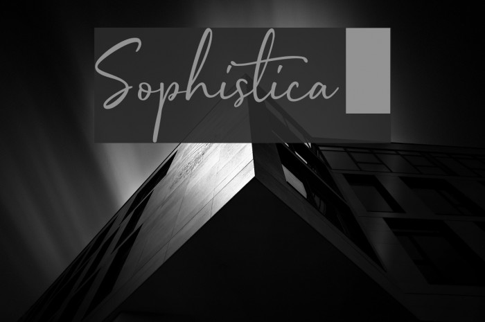 Sophistica1 フォント examples