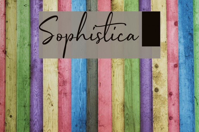 Sophistica1 Caratteri examples