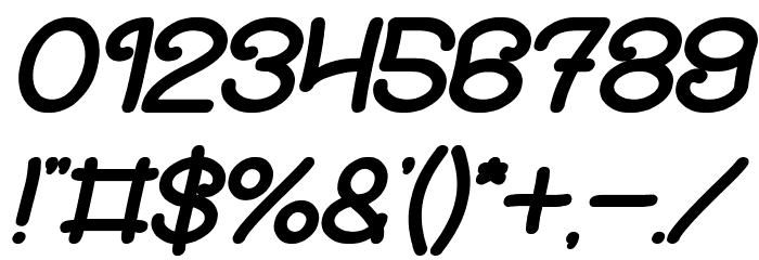 Soup Recipe Bold Italic フォント その他の文字