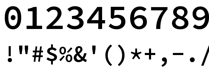 Source Code Pro SemiBold Font OTHER CHARS