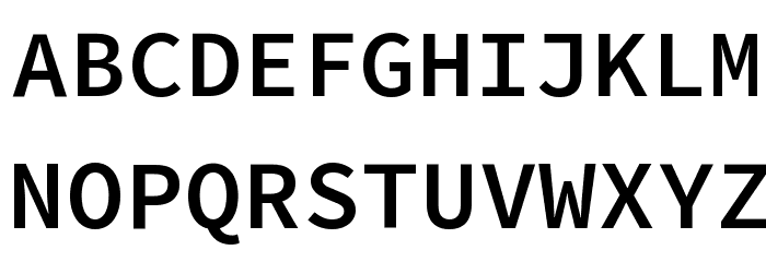 Source Code Pro SemiBold Font UPPERCASE