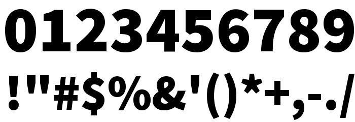 Source Sans Pro Black Font OTHER CHARS