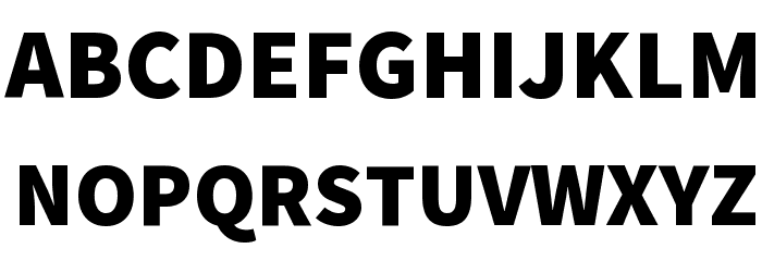 Source Sans Pro Black Font UPPERCASE