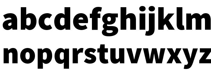 Source Sans Pro Black Font LOWERCASE