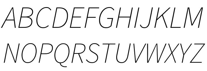 Source Sans Pro ExtraLight Italic Шрифта ВЕРХНИЙ