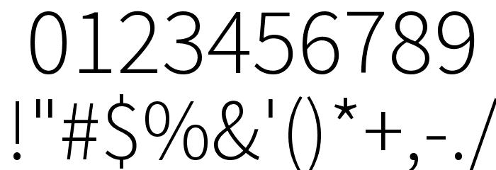 Source Sans Pro Light Font OTHER CHARS