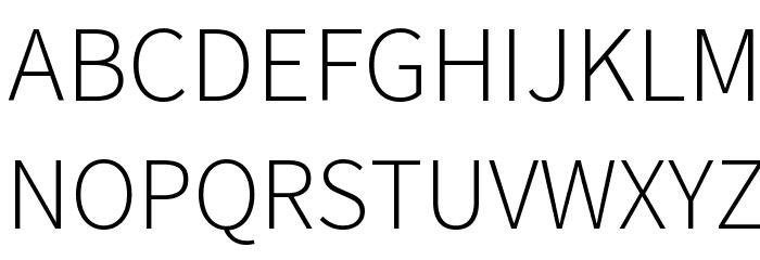 Source Sans Pro Light Font UPPERCASE