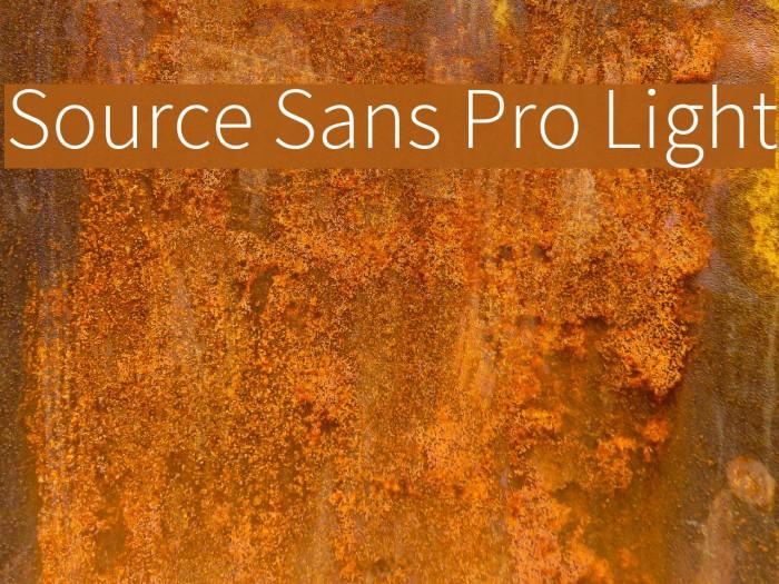 Source Sans Pro Light Font examples