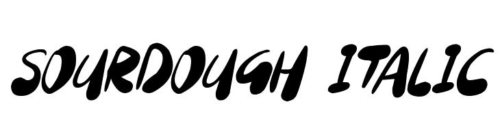 Sourdough Italic Schriftart