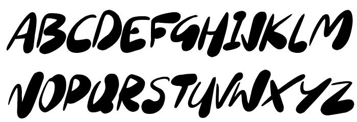 Sourdough Italic Schriftart Kleinbuchstaben