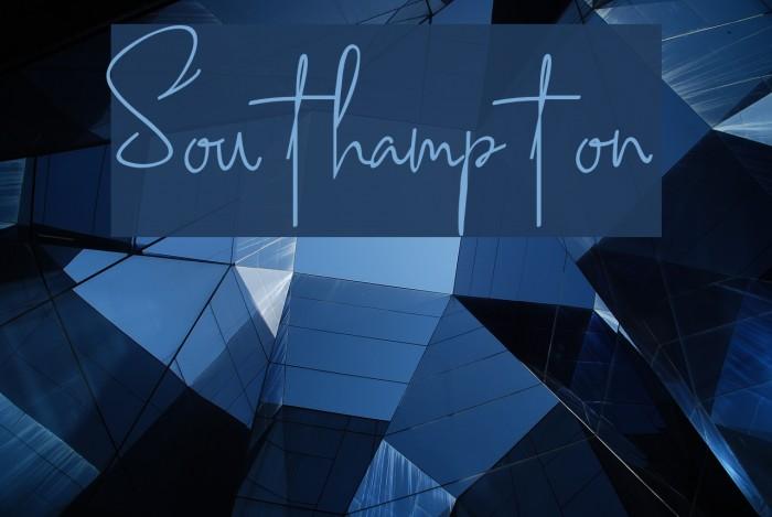 Southampton Шрифта examples