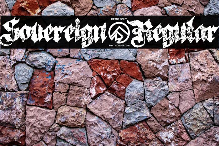 Sovereign-Regular Font examples