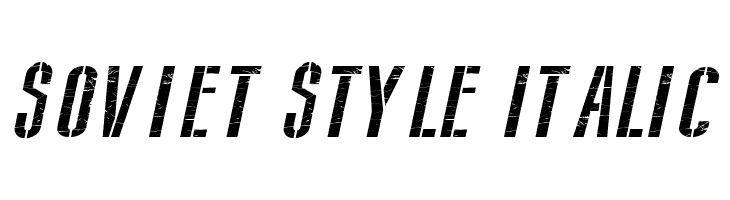 Soviet Style Italic  Free Fonts Download