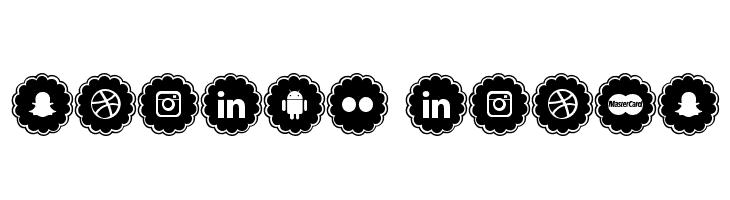 social icons  les polices de caractères gratuit télécharger