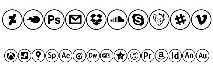 social media Шрифта ДРУГИЕ символов