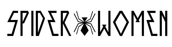 SPIDER-WOMEN  les polices de caractères gratuit télécharger