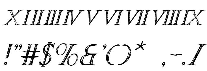 SPQR Italic Font OTHER CHARS