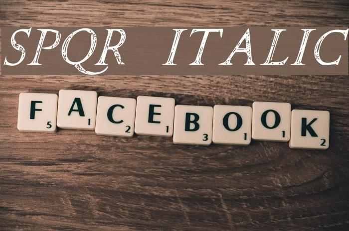 SPQR Italic Font examples