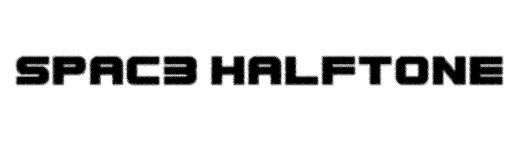 Spac3 halftone  Free Fonts Download