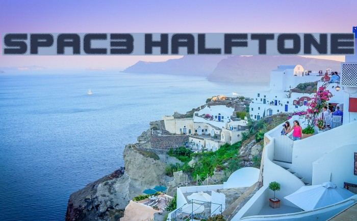 Spac3 halftone फ़ॉन्ट examples
