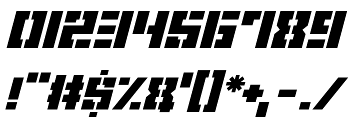 Space Cadets Italic Fonte OUTROS PERSONAGENS