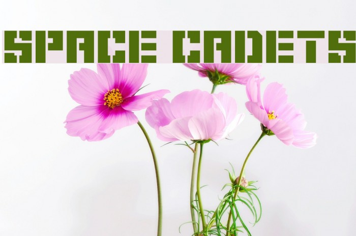 Space Cadets Fonte examples