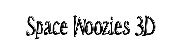 Space Woozies 3D  Free Fonts Download